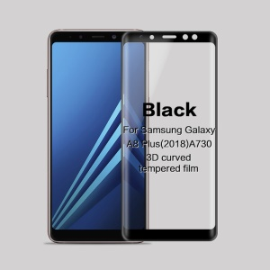 MOFI 3D Curved Complete Covering Tempered Glass Screen Protector for Samsung Galaxy A8 (2018) A730 - Black