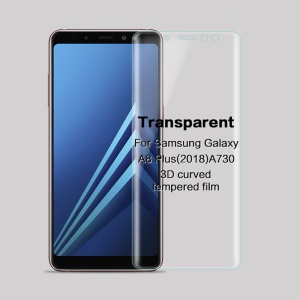 MOFI 3D Curved Tempered Glass Full Coverage Screen Guard Film for Samsung Galaxy A8 (2018) A730 - Transparent