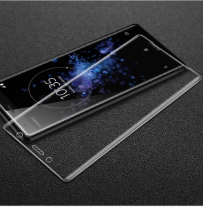 IMAK 3D Curved Tempered Glass Full Screen Covering Protector Guard Film for Sony Xperia XZ2 Compact - Transparent