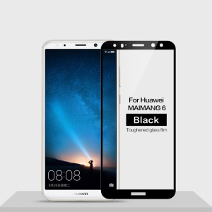 MOFI 9H Anti-burst 2.5D Arc Edge Full Size Tempered Glass Screen Protective Film for Huawei Mate 10 Lite/nova 2i/Maimang 6/Honor 9i (India) - Black