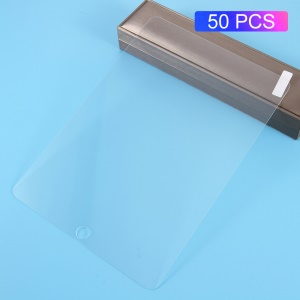 50Pcs/Set 0.3mm Tempered Glass Screen Protector Arc Edge for iPad 9.7-inch (2018)/9.7-inch (2017)/Air 2/Air