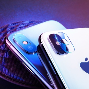 BASUES 0.2mm Scratch-proof Full Coverage Camera Lens Glass Film for iPhone X