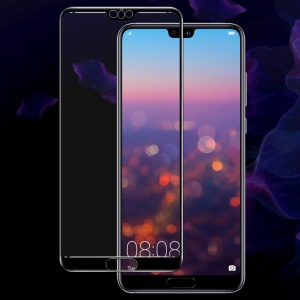 IMAK Full Size Tempered Glass Screen Protector Guard for Huawei P20 Pro - Black