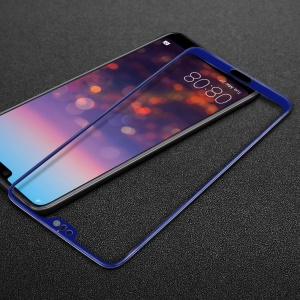 IMAK Full Coverage Tempered Glass Screen Protector Guard for Huawei P20 Pro - Blue