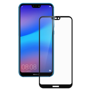 Silk Printing Full Size Tempered Glass Screen Protector Film (Arc Edge) for Huawei P20 Lite / Nova 3e