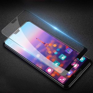 Silk Printing Full Size Tempered Glass Screen Protector Film (Arc Edge) for Huawei P20 Pro