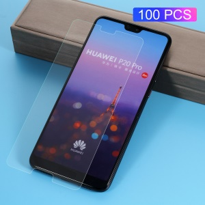 100Pcs/Set 0.3mm Arc Edge Tempered Glass Screen Protector Film for Huawei P20