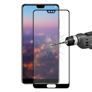 HAT PRINCE 0.26mm 2.5D Full Cover Tempered Glass Screen Protector for Huawei P20 Pro - Black