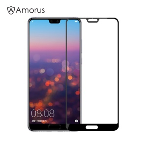 AMORUS for Huawei P20 Pro Clear Silk Print Complete Cover Tempered Glass Screen Protector