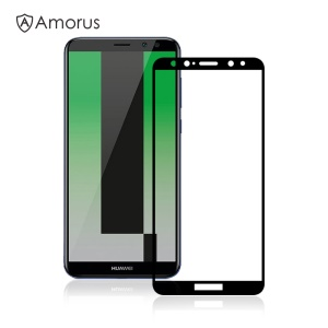 AMORUS 3D Curved Tempered Glass Screen Protector for Huawei Mate 10 Lite / nova 2i / Maimang 6 / Honor 9i (India) - Black