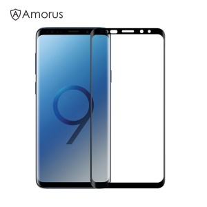 AMORUS 3D Curved Tempered Glass Screen Protector Film for Samsung Galaxy S9 SM-G960 - Black