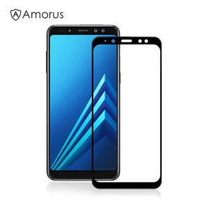 AMORUS Clear Full Glue Tempered Glass Screen Protector for Samsung Galaxy A8 (2018)
