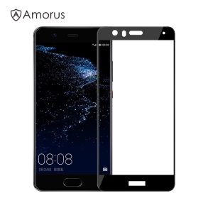 AMORUS for Huawei P10 Lite Clear Silk Print Complete Cover Tempered Glass Screen Protector