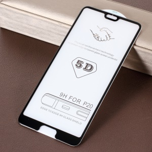 5D 9H Full Size Tempered Glass Screen Protector Guard Film for Huawei P20 Pro - Black