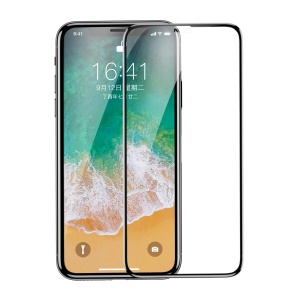 BASEUS 0.2mm 9H Full Size Curved Tempered Glass Screen Protector for iPhone XS / X 5.8 inch - Black