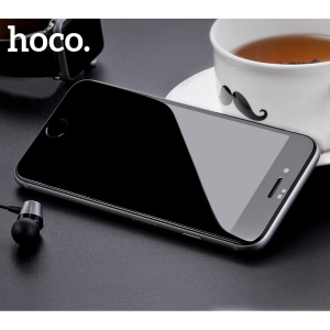 HOCO for iPhone 8 Plus 5.5 inch Fast Attach 3D Full Coverage HD Tempered Glass Screen Protector (A8) - Black