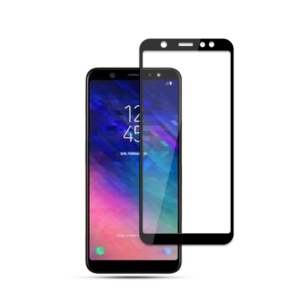 MOCOLO Silk Print Tempered Glass Full Covering Screen Protector Film for Samsung Galaxy A6 (2018) - Black