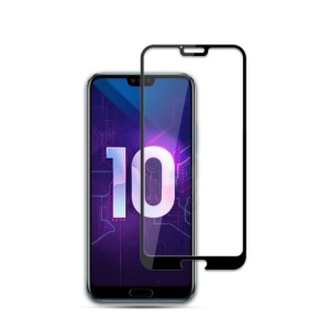 MOCOLO Silk Print Full Size Tempered Glass Screen Protector (AB Glue) for Huawei Honor 10 - Black