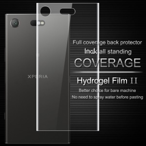 IMAK Soft Clearer Hydrogel Film II for Sony Xperia XZ1 Compact Full Coverage Back Protector Film