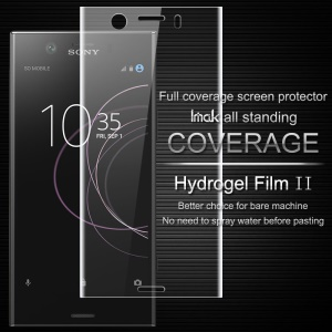 IMAK Soft Clearer Hydrogel Film II for Sony Xperia XZ1 Compact Full Covering Front Screen Protector Film