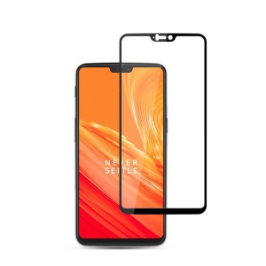 MOCOLO Silk Print Complete Coverage Tempered Glass Screen Protector for OnePlus 6 - Black