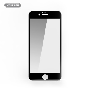 YK 5D Full Size Tempered Glass Screen Protector for iPhone 6s Plus/6 Plus - Black