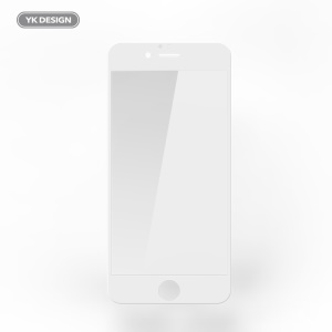 YK 5D 9H Complete Covering Tempered Glass Screen Protector Film for iPhone 6s Plus/6 Plus - White