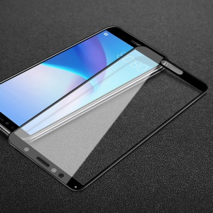 IMAK Pro+ Full Coverage Anti-explosion Tempered Glass Screen Protector for Huawei Honor 7A/Honor 7A Pro/Y6 (2018)/Enjoy 8E - Black