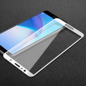 IMAK Pro+ Full Size Anti-explosion Tempered Glass Screen Protector for Huawei Honor 7A/Honor 7A Pro/Y6 (2018)/Enjoy 8E - White