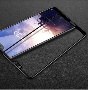 IMAK Pro+ Full Coverage Tempered Glass Screen Protector for Nokia 6.1 Plus / Nokia X6 - Black