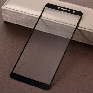 Silk Printing Full Size Tempered Glass Screen Protector for Xiaomi Redmi S2 / Y2 - Black