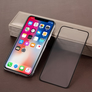 RURIHAI for iPhone X 5.8 inch 0.26mm 2.5D AB Glue Frosted Full Coverage Tempered Glass Protector Film