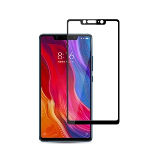 MOCOLO Silk Print Arc Edge Full Coverage Tempered Glass Screen Protector for Xiaomi Mi 8 SE - Black