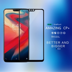 NILLKIN Amazing CP+ Nanometer Anti-explosion Tempered Glass Screen Protector for OnePlus 6 - Black