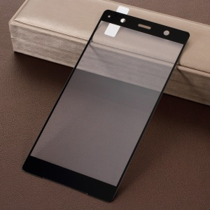 Silk Printing Full Covering Tempered Glass Screen Protector Film for Sony Xperia XZ2 Premium - Black