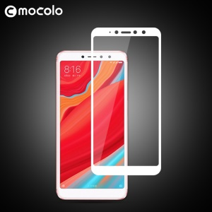 MOCOLO Silk Print Arc Edge Full Coverage Tempered Glass Screen Protector for Xiaomi Redmi S2 / Y2 - White