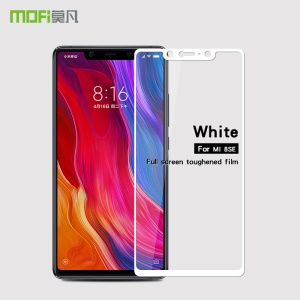 MOFI 2.5D 9H Full Size Tempered Glass Screen Protector Film for Xiaomi Mi 8 SE (5.88-inch) - White