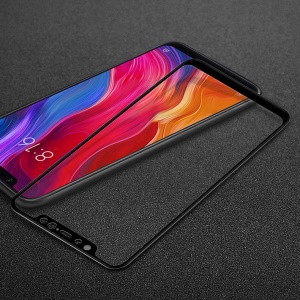 IMAK Full Size Tempered Glass Screen Protector for Xiaomi Mi 8 (6.21-inch) - Black