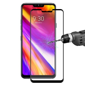HAT PRINCE 0.26mm 9H 3D Curved Full Cover Tempered Glass Screen Protector for LG G7 ThinQ - Black