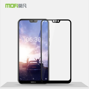 MOFI 9H 2.5D Arc Edge Full Size Tempered Glass Screen Protector for Nokia 6.1 Plus / Nokia X6 - Black