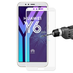 HAT PRINCE 2.5D Arc Edge Tempered Glass Full Screen Coverage Protector for Huawei Y6 (2018) / Honor 7A (without Fingerprint Sensor) - White