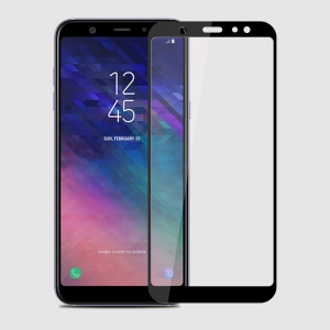 Black - MOFI 2.5D 9H Full Size Tempered Glass Screen Protector for Samsung Galaxy A6 (2018)