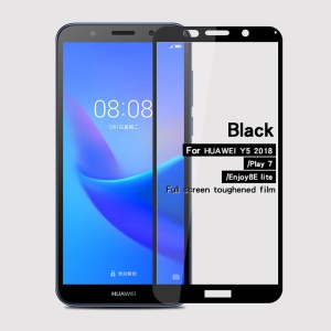 Black - MOFI 9H 2.5D Full Size Tempered Glass Screen Protector for Huawei Y5 (2018)/Y5 Prime (2018)/Honor Play 7/Enjoy 8E Lite