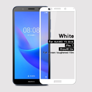 White - MOFI 9H 2.5D Full Size Tempered Glass Screen Protector for Huawei Y5 (2018)/Y5 Prime (2018)/Honor Play 7/Enjoy 8E Lite