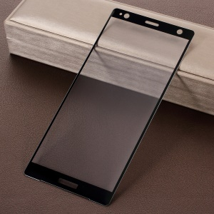 RURIHAI 3D Electroplated Edge 0.26mm Full Tempered Glass Screen Film for Sony Xperia XZ2 - Black