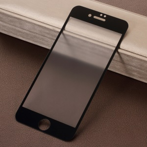 RURIHAI for iPhone 8 4.7 inch 0.26mm 2.5D AB Glue Frosted Full Coverage Tempered Glass Protector Film - Black