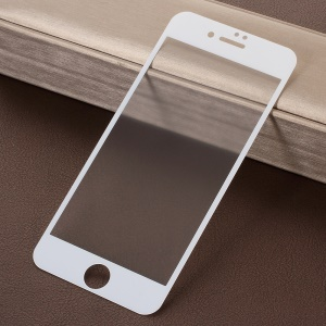 RURIHAI for iPhone 8 4.7 inch 0.26mm 2.5D AB Glue Frosted Full Size Tempered Glass Protector Film - White
