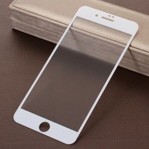 RURIHAI for iPhone 8 Plus 5.5 inch 0.26mm 2.5D AB Glue Frosted Full Size Tempered Glass Protector - White