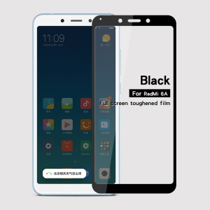 MOFI 2.5D 9H Tempered Glass Full Size Screen Protector Film for Xiaomi Redmi 6A (Single 12MP Rear Camera) - Black
