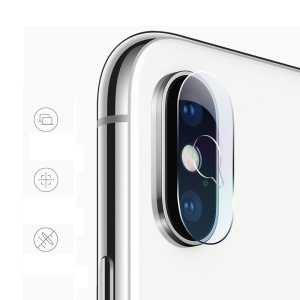 MOCOLO Ultra Clear Arc Edges Tempered Glass Camera Lens Protector Film for iPhone X - Transparent